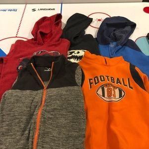 5 boys sweatshirts- 1 not hooded